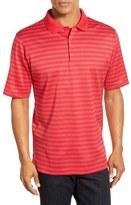 Bugatchi Short Sleeve Stripe Cotton Polo