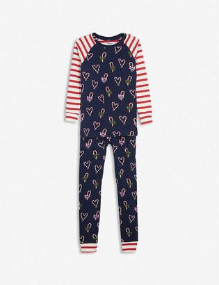 Hatley Festive candy cane-print pyjamas 2-10 years
