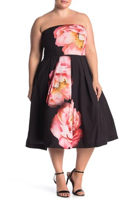 City Chic Sublime Bloom Dress (Plus Size)