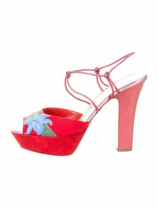 Sergio Rossi Slingback Sandals Red