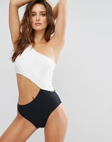 Noisy May Tan Lines Color Block Swimsuit