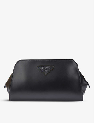 Prada Branded leather pouch bag