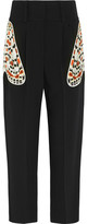 Givenchy Tapered Pants In Black Crepe With Butterfly Pockets - FR36