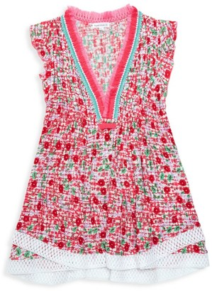 Poupette St Barth Little Girl's & Girl's Mini Sasha Floral Lace-Trim Flare Dress