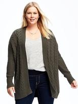 Old Navy Open-Front Plus-Size Cable-Knit Cardi