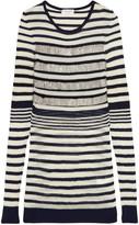 Sonia Rykiel Beaded striped wool-blend sweater