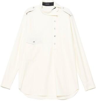 Ann Demeulemeester Asymmetric Collar Shirt