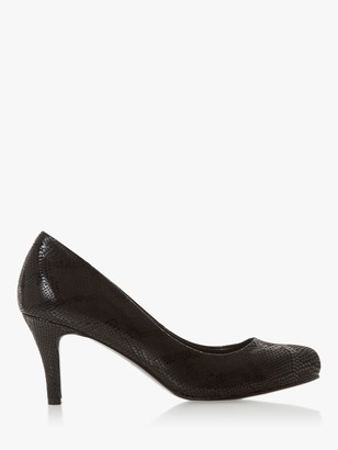 Dune Amelia Mid Heel Court Shoes, Black