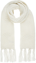 Accessorize Wool Blend Lattice Cable Scarf
