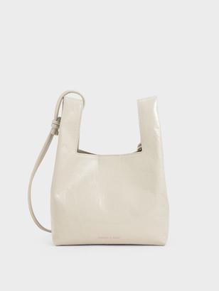 Charles & Keith Patent Square Handle Tote Bag