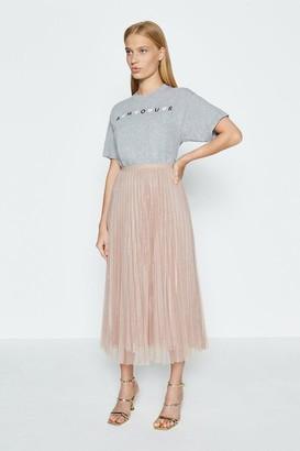 Coast Pleated Midi Skirt
