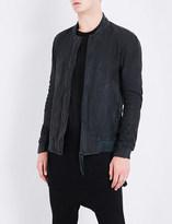 Boris Bidjan Saberi Stand-collar leather bomber jacket