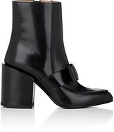Marni Women's Bow-Strap Leather Ankle Boots-BLACK, NO COLOR