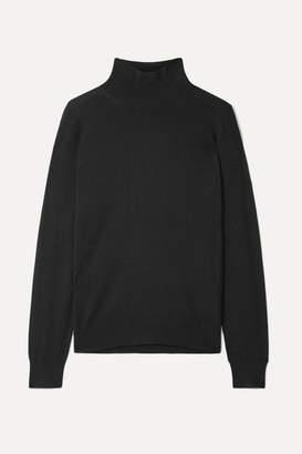 Burberry Intarsia Merino Wool Turtleneck Sweater - Black