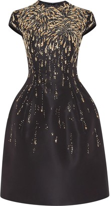 Oscar de la Renta Sequin-Embellished Structured Dress