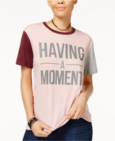 Hybrid Juniors' Having A Moment Contrast Graphic T-Shirt
