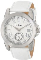 "A Line a_line Women's AL-80022-02-WH ""Amare"" Stainless Steel Watch with Leather Band"
