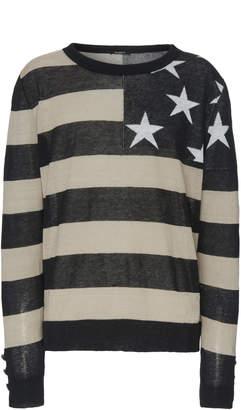 Balmain Oversized Striped Linen Sweater
