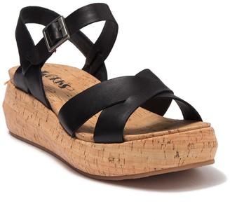 KORKS Kalie Leather Platform Sandal