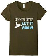 Lego Women's Summer Sucks Let It Snow T-Shirt XL