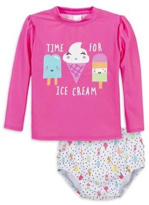 Gerber Baby Toddler Girl Rash Guard Two-Piece Swimsuit