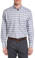 Maker & Company Men's Tailored Fit Windowpane Sport Shirt
