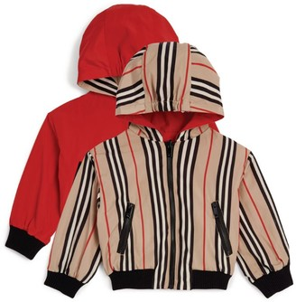 Burberry Kids Reversible Horseferry and Icon Print Jacket