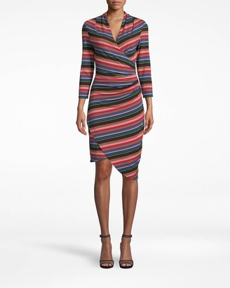 Nicole Miller Downtown Stripe 3/4 Sleeve Stefanie Dress