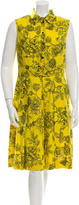 Lela Rose Floral Print Sleeveless Dress