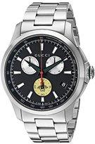 Gucci Men's Swiss Quartz Stainless Steel Dress Watch, Color:Silver-Toned (Model: YA126267)