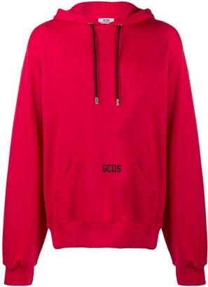 GCDS oversized logo hoodie