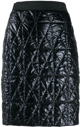 Karl Lagerfeld Paris Fitted Quilted Skirt