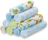 SpaSilk 10-Pack Washcloth Set in Blue Tiger