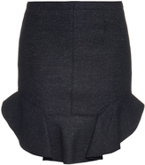 Isabel Marant Frill-hem wool-blend mini skirt