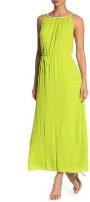 Nina Leonard Braided Neck Sleeveless Maxi Dress