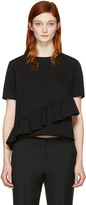 Carven Black Ruffle T-Shirt