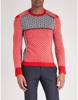Alexander Mcqueen Patchwork Wool And Cashmere-blend Jumper