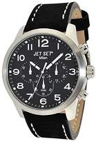 Jet Set – j64803-217 – Milan – Quartz – Chronograph – Black Dial Steel Bracelet Ladies Watch Silver