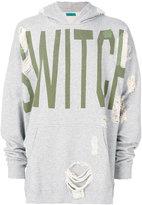 Paura distressed Switch hoodie