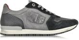 D'Acquasparta D'Acquasparta Botticelli Gray Nylon and Black Suede Men's Sneaker