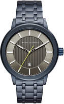 Armani Exchange Men's Maddox Blue Stainless Steel Bracelet Watch 46mm