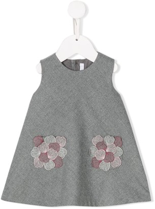 Il Gufo Flower Embroidery Dress