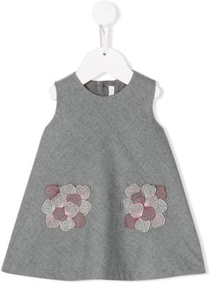 Il Gufo flower embroidery dress