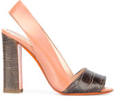 Santoni chunky heel sandals