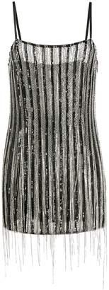 Amen fringed mini dress
