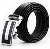 K&S KS Men's Dress Genuine Leather Belt Sliding Automatic Lock Alloy Buckle KB011