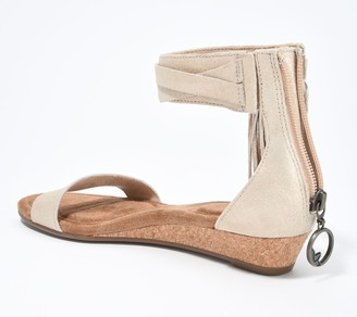 Koolaburra by UGG Suede Tassel Demi-Wedges - Saige