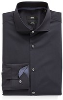 BOSS Slim Fit Easy Iron Solid Dress Shirt