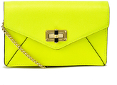 Diane von Furstenberg Women's Gallery Bitsy Small Leather Cross Body Bag Yellow