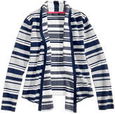 Tommy Hilfiger Striped Jacquard Cotton Cardigan, Big Girls